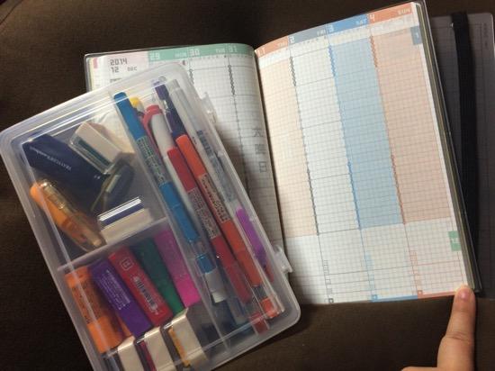 筆記用具とジブン手帳
