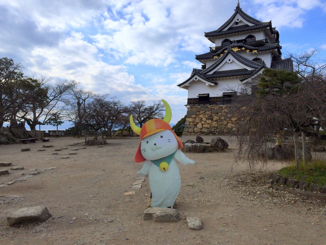 彦根城とひこにゃん
