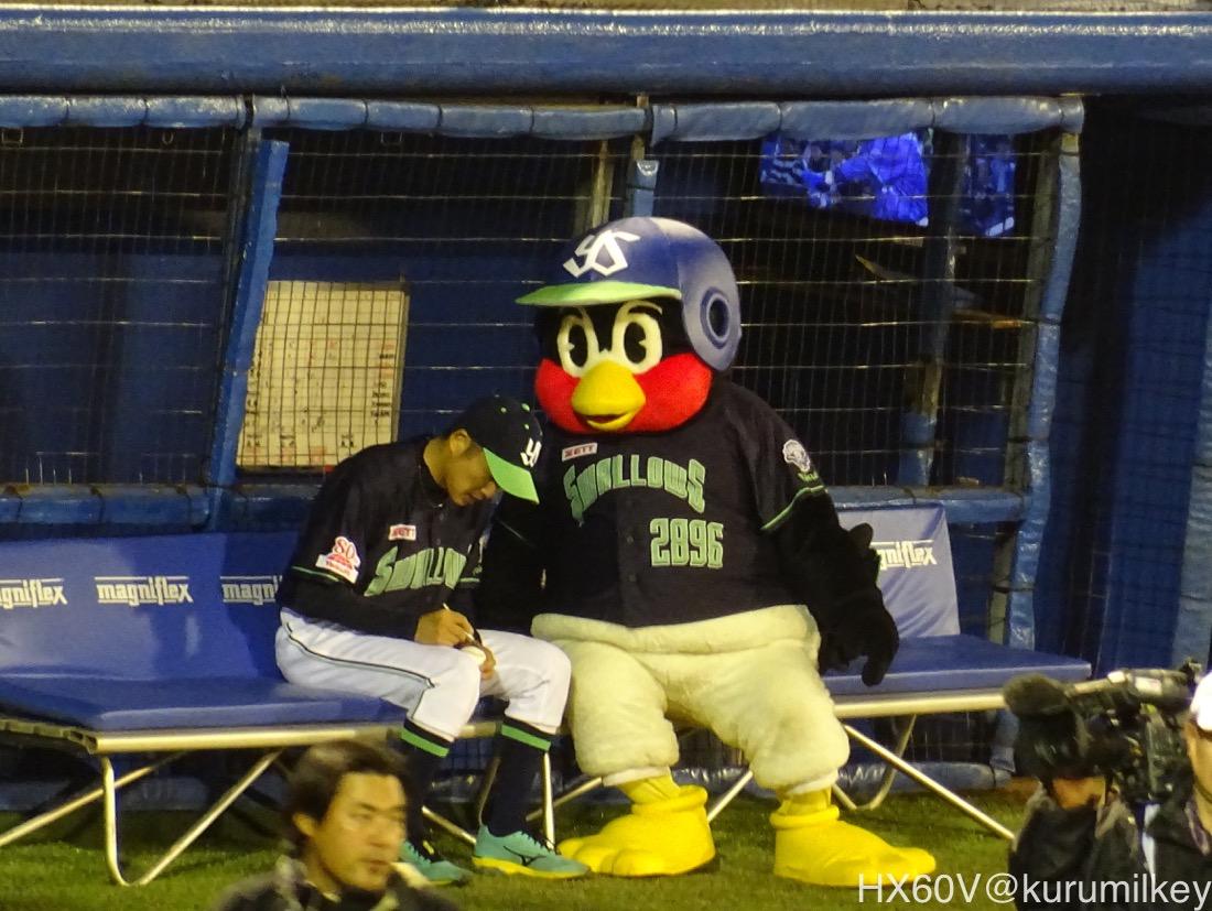 石川投手とつば九郎