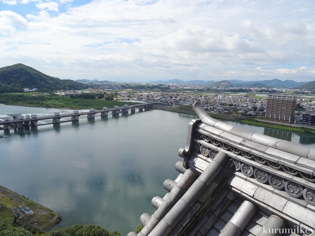 犬山城から木曽川2