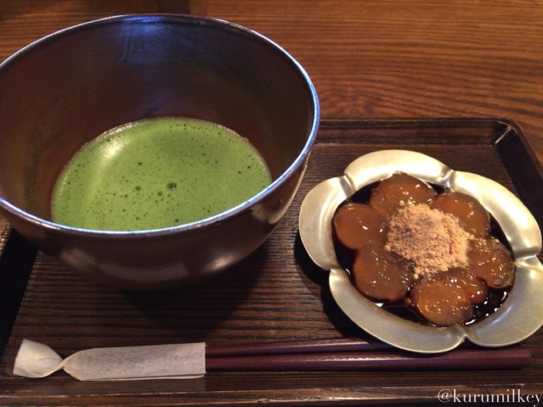 抹茶とわらび餅
