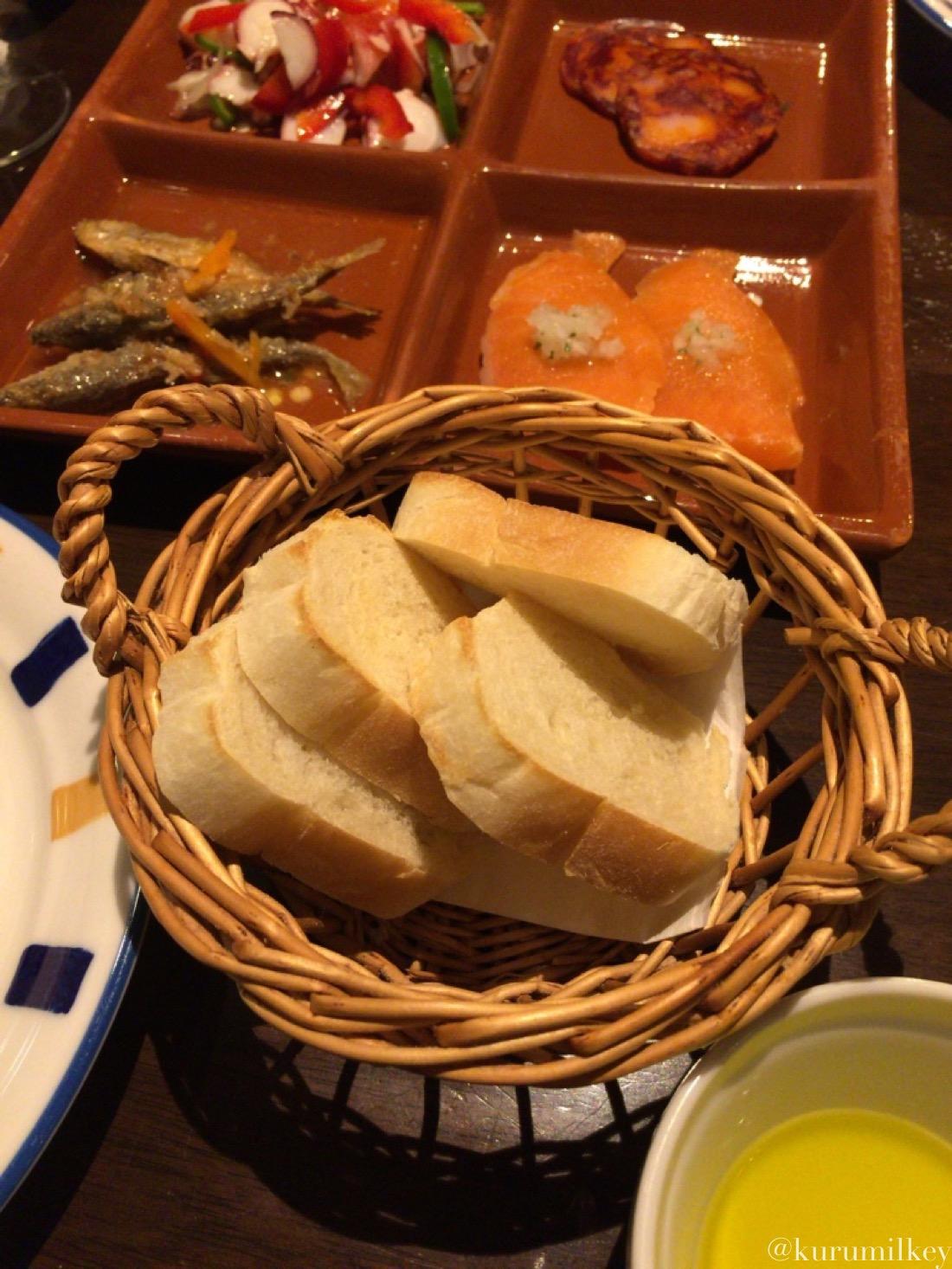ポルトガル産オリーブオイルとパン