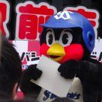 灼熱のつば九郎筆談トークショー #ヨドバシカメラ さいたま新都心駅前店